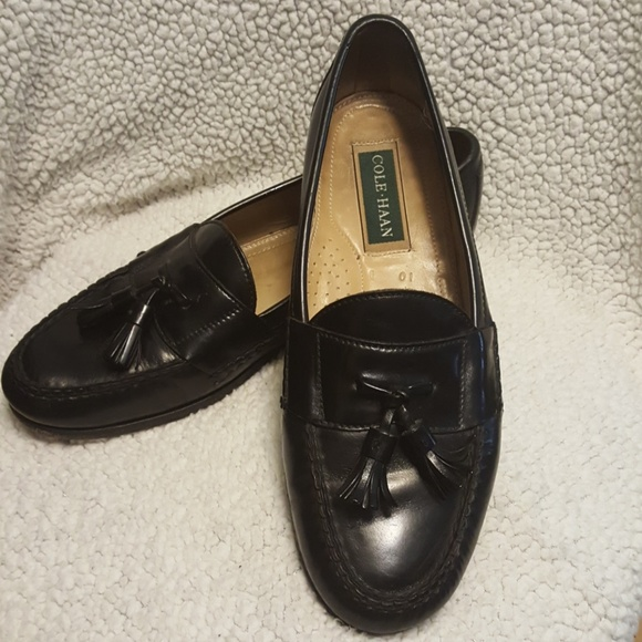 e1586e7415a Cole Haan Other - Cole Haan Black Leather Tassel Loafers Men Sz 10 D